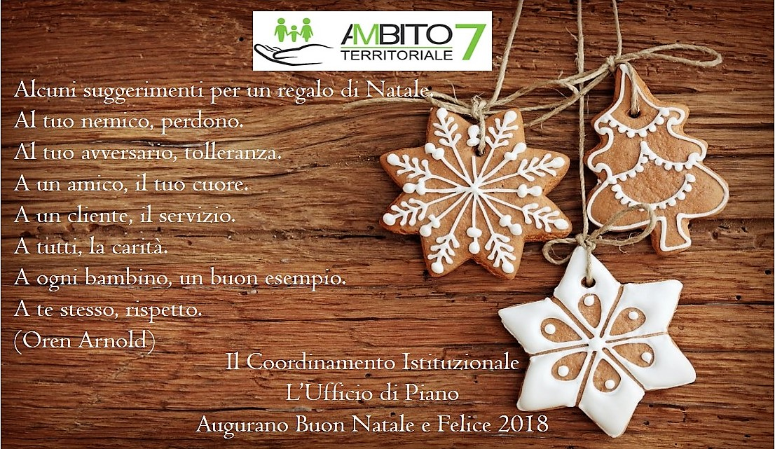 Auguri Di Buon Natale Ufficio.Auguri Di Buon Natale E Felice 2018ambito 7 Manduria